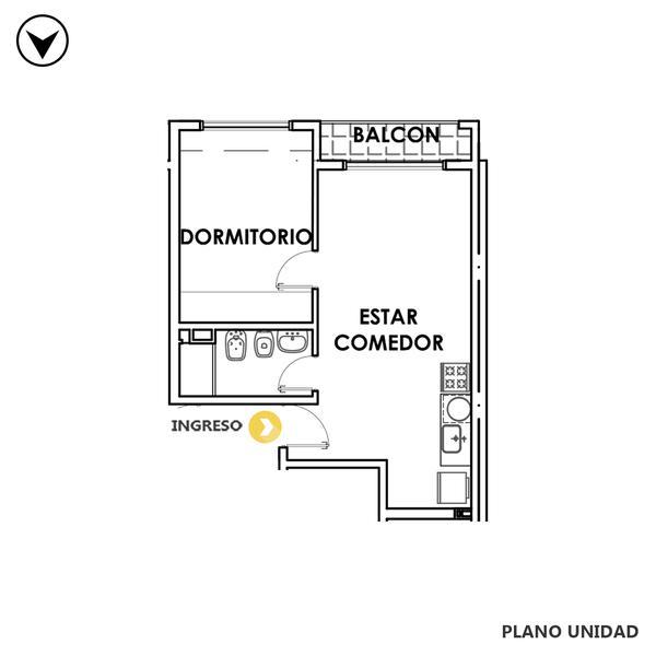 venta departamento 1 dormitorio Rosario, MENDOZA 1800. Cod CBU35008 AP3539314 Crestale Propiedades