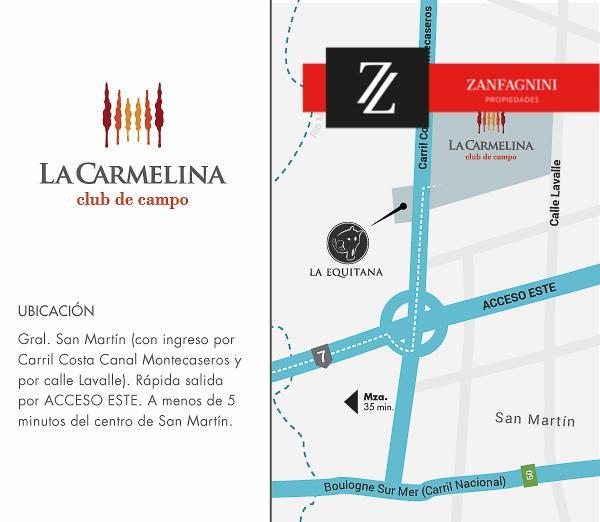 Foto Terreno en Venta en  San Martin ,  Mendoza  La Carmelina -  Mza A Lote 1