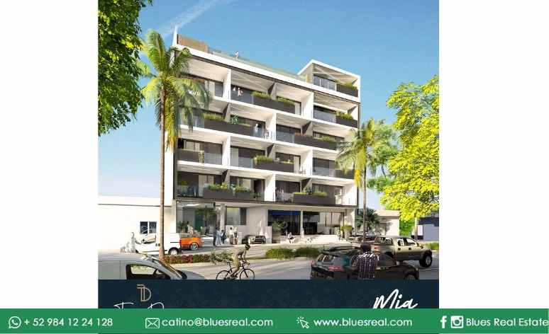 Picture Apartment in Sale in  Solidaridad ,  Quintana Roo  For sale NEW studios near fifth avenue in Torre Diez at Playa del Carmen | Blues Real | Code 906