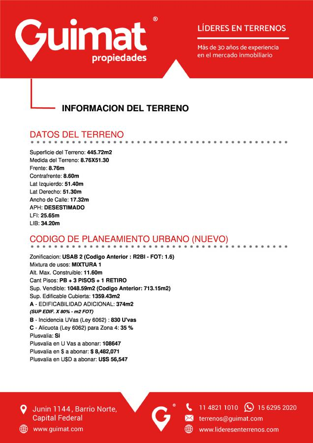 Foto Terreno en Venta en  Villa Urquiza ,  Capital Federal  CAPDEVILA al 3500
