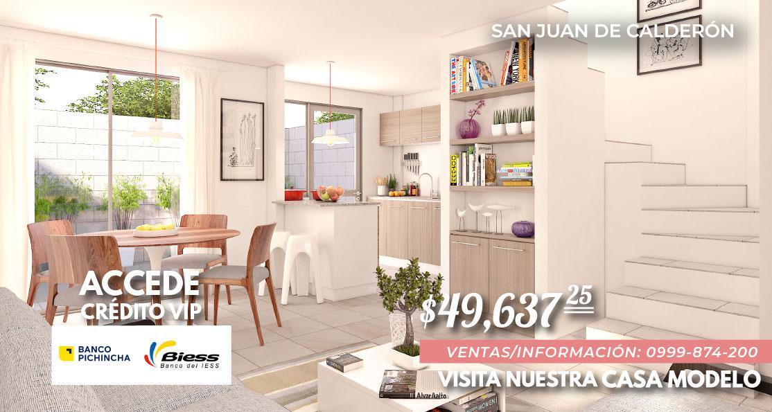 Foto Casa en Venta en  Calderón,  Quito  Casa en Venta a Estrenar - San Juan de Calderón - Crédito VIP
