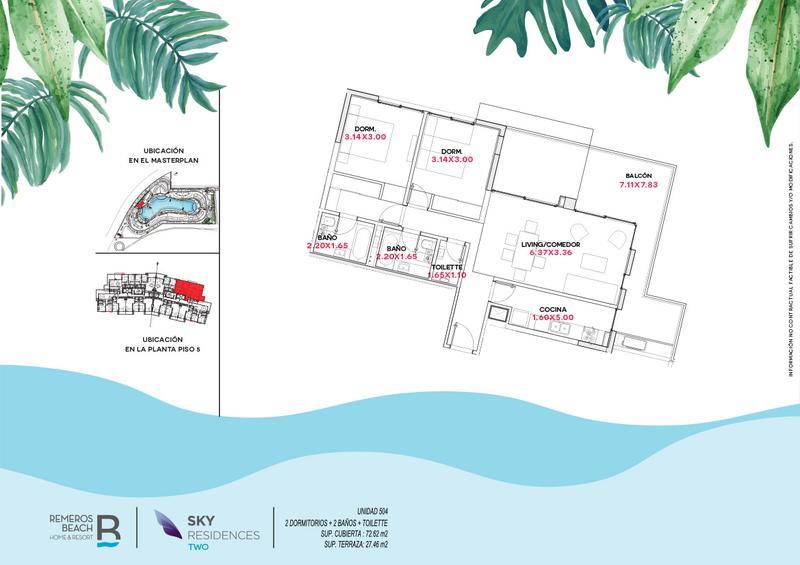 Foto Departamento en Venta en  Remeros Beach,  Countries/B.Cerrado  RB | SKY 2 - 504