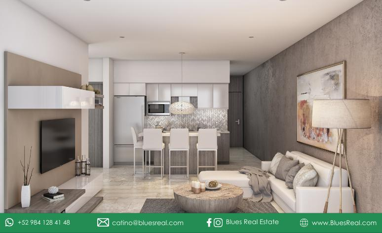 Picture Apartment in Sale in  Playa del Carmen,  Solidaridad  For sale new apartments in Pura Playa Condo   Blues Real   Code 463