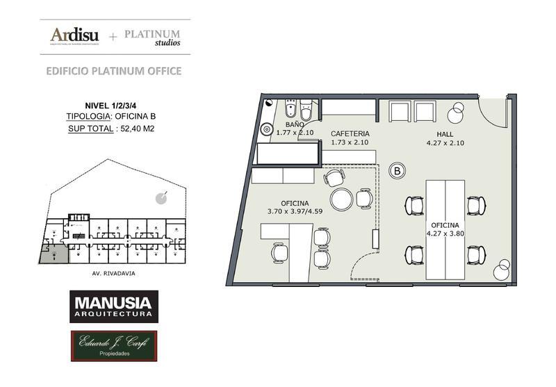 Foto Oficina en Venta en  Castelar Norte,  Castelar  Platinum Office - Rivadavia 19.861 (4B)