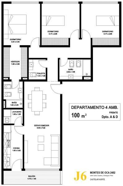 Foto Departamento en Venta en  Castelar Norte,  Castelar  Montes de Oca (Piso 1°) 100 M2