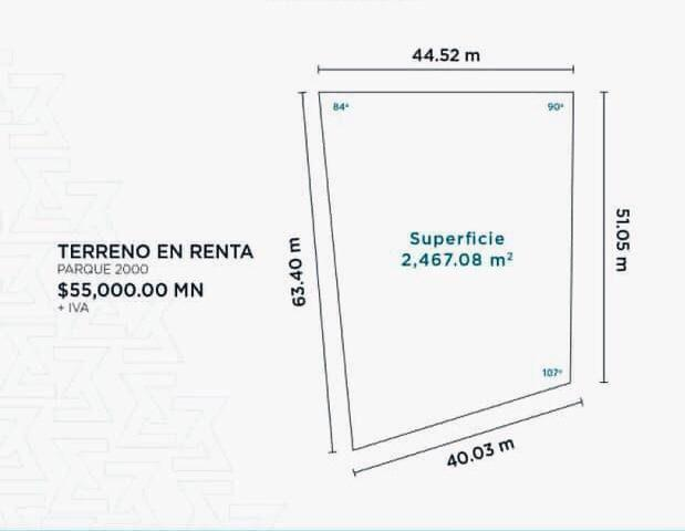 Foto Terreno en Renta en  Parke 2000,  Veracruz  PARKE 2000, Terreno Comercial en RENTA de 2,467.08 m2