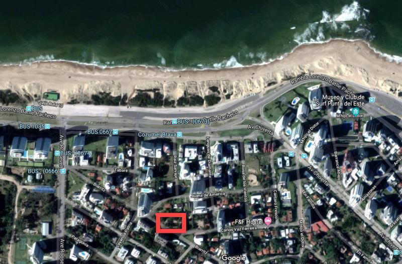 Foto Terreno en Venta en  Playa Brava,  Punta del Este  Carlos Vaz Importante y Destacado Terreno Ferreira Y Biarritz