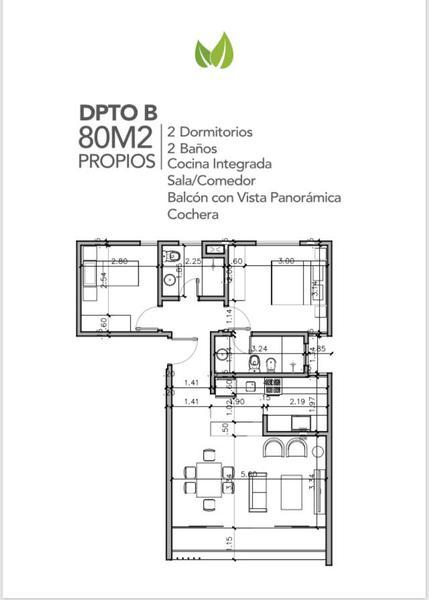 Foto Departamento en Venta en  Villa Morra,  La Recoleta  Edificio Life Villa Morra, Departamento 2B