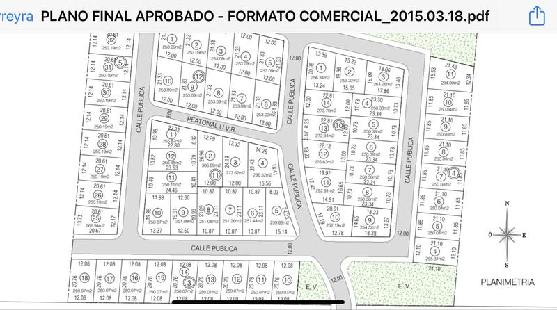 Foto Terreno en Venta en  Tejas ll,  Cordoba Capital  LOTE DE 306 MTS. APTO DUPLEX EN LA PAYA 2