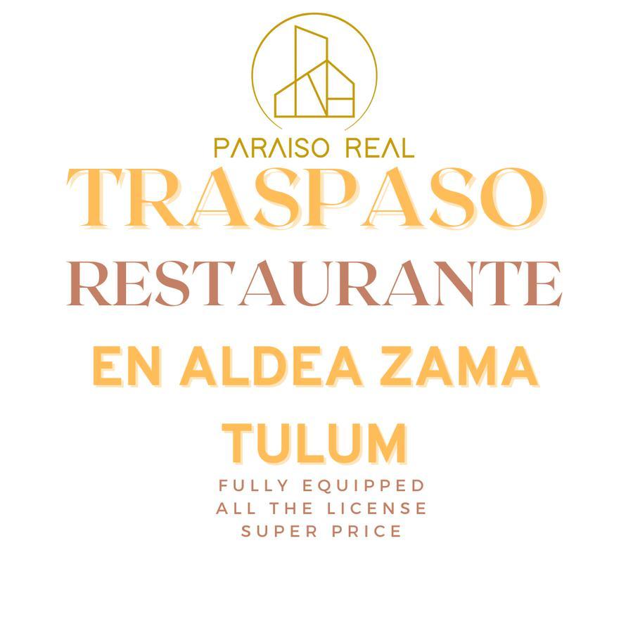 Foto Fondo de Comercio en Venta en  Aldea Zama,  Tulum  Traspaso restaurante en Aldea Zama tulum