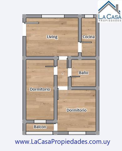 Foto Apartamento en Alquiler en  La Comercial ,  Montevideo  Nueva Palmira al 1700