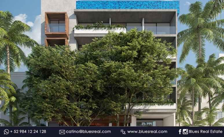 Picture Apartment in Sale in  Playa del Carmen,  Solidaridad  For sale new apartments in Pura Playa Condo | Blues Real | Code 463