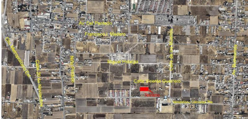 Foto Terreno en Venta en  Santa María,  San Mateo Atenco          TERRENO DE 2100 M2 EN VENTAA MEDIA CUADRA DE VENUSTIANO CARRANZA SAN MATEO ATENCO