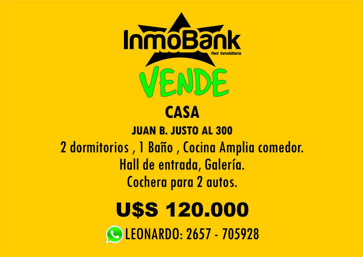 Foto Casa en Venta en  Villa Mercedes,  Pedernera  juan b justo al 300