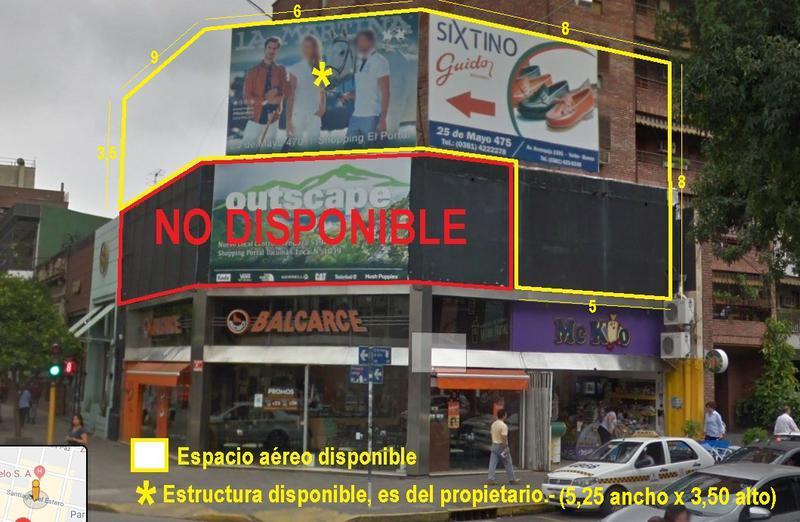 Foto Local en Alquiler en  San Miguel De Tucumán,  Capital  Espacio aéreo 25 de Mayo Esq. Santiago