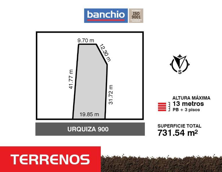 Urquiza al 900, Santa Fe. Venta de Terrenos - Banchio Propiedades. Inmobiliaria en Rosario