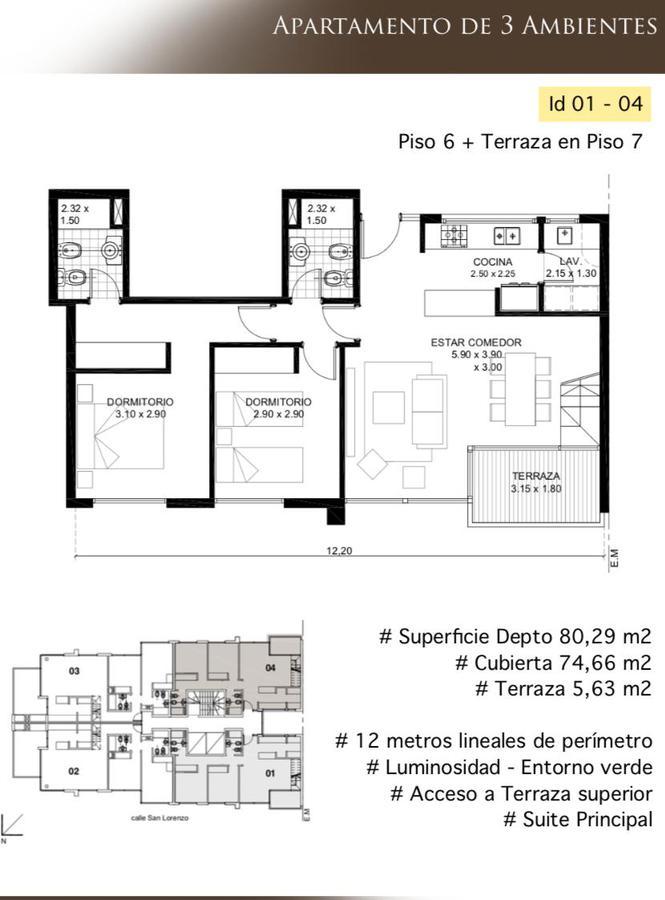 Foto Departamento en Venta en  Mar Del Plata ,  Costa Atlantica      Venta en pozo Residencias San Lorenzo Unidades de 2-3 ambientes