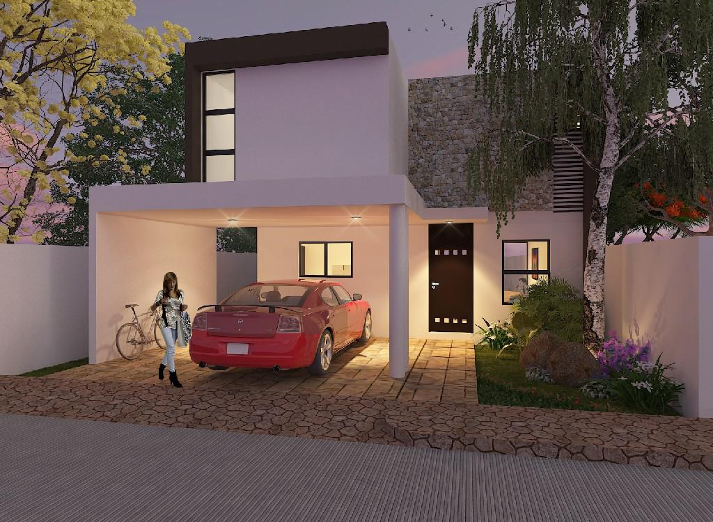 Foto Casa en Venta en  Pueblo Conkal,  Conkal  Casa en Privada Botánico (Mod.210) Lote 173.