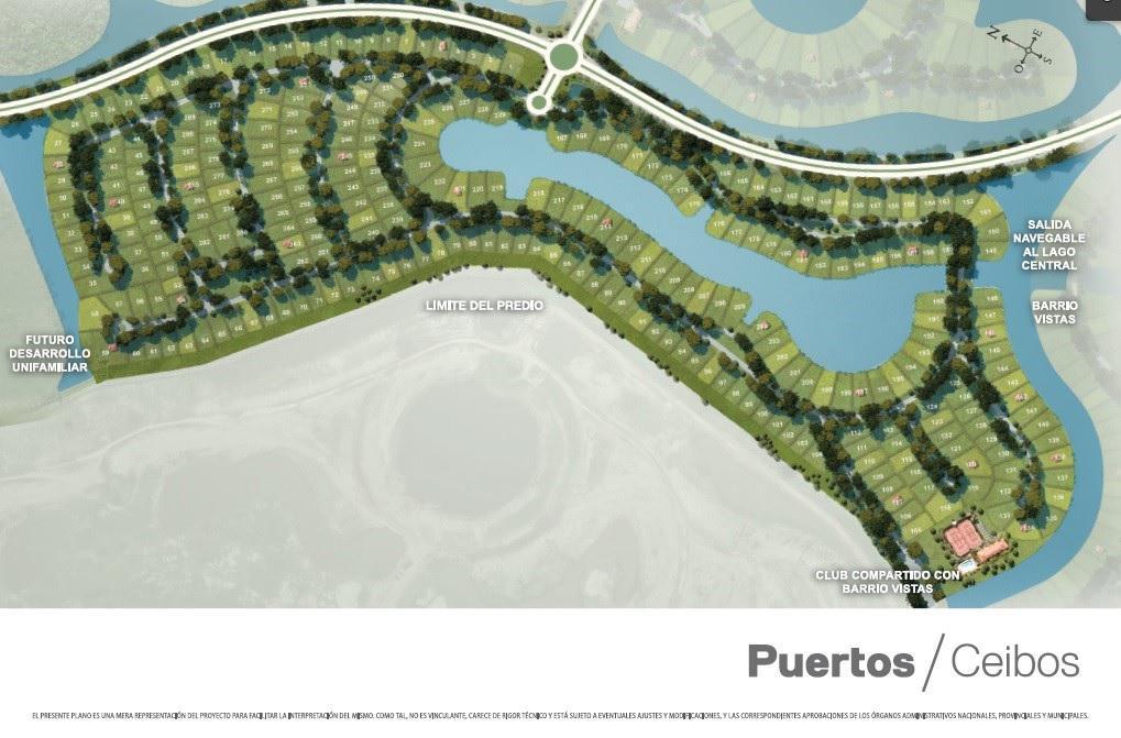 Foto Terreno en Venta en  Ceibos,  Puertos del Lago  LOTE INTERNO a Espacio Verde en barrio CEIBOS PUERTOS/LAGO  ESCOBAR.