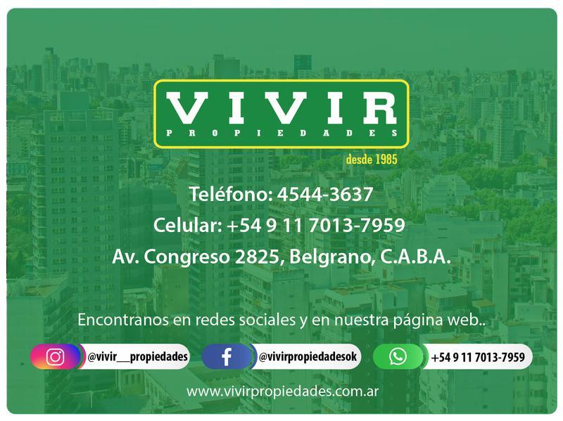 Foto Departamento en Venta en  Belgrano ,  Capital Federal  Virrey del Pino  2851 10 C