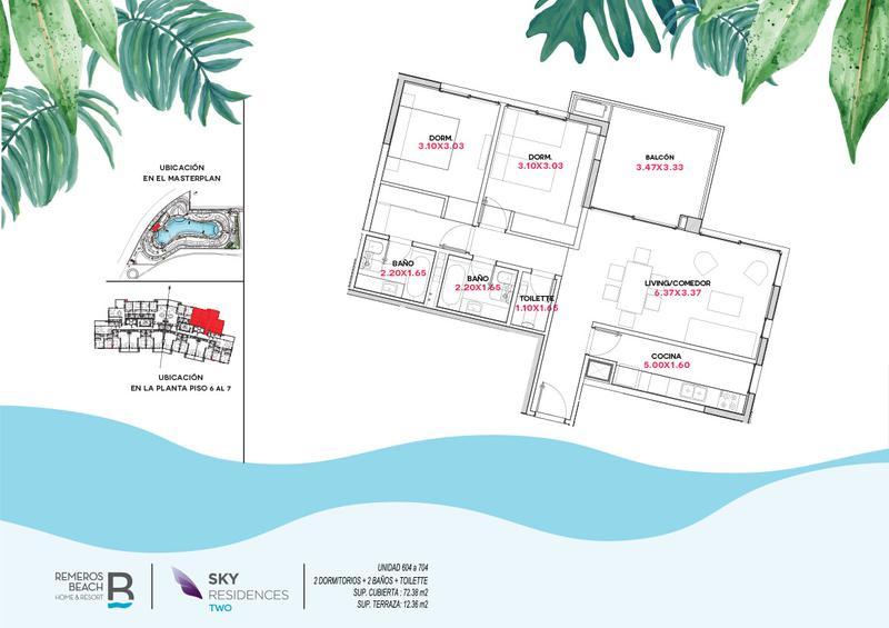 Foto Departamento en Venta en  Remeros Beach,  Countries/B.Cerrado  RB | SKY 2 - 604