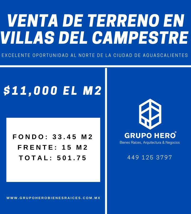 Foto Terreno en Venta en  Fraccionamiento Valle del Campestre,  Aguascalientes  Terreno en venta en Villas del Campestre