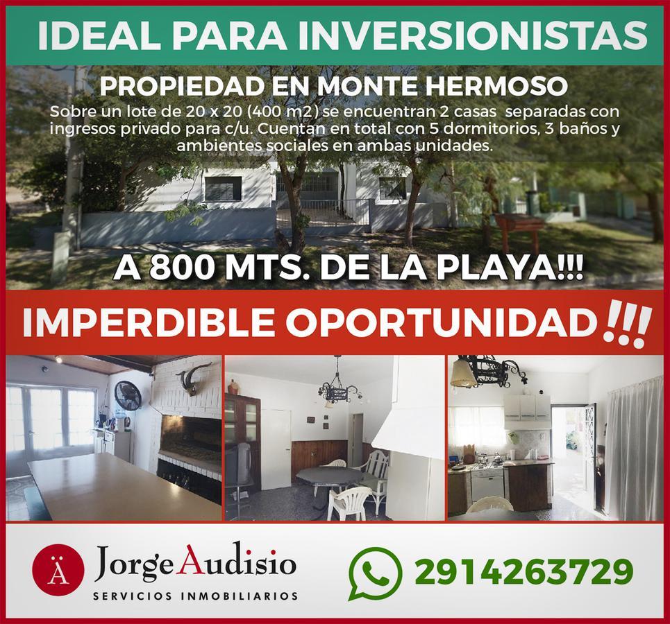 Foto Casa en Venta en  Monte Hermoso ,  Costa Atlantica  Pedro de Mendoza esq. Deluster