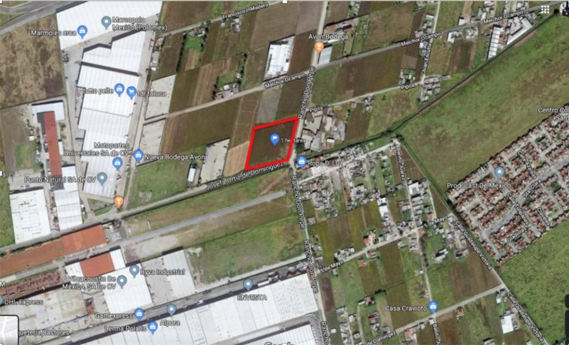 Foto Terreno en Venta en  San Pedro Totoltepec,  Toluca  Venta de Terreno industrial  10,000 m2 en Toluca