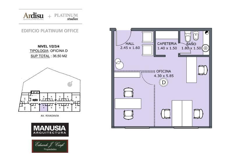 Foto Oficina en Venta en  Castelar Norte,  Castelar  Platinum Office - Rivadavia 19.861 (4D)