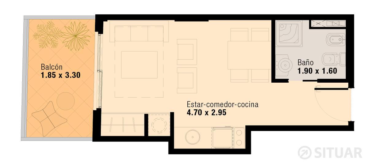 Foto Departamento en Venta en  Flores ,  Capital Federal  Pavillon San Jose - Unidad 408 - Pedernera 50 - Flores