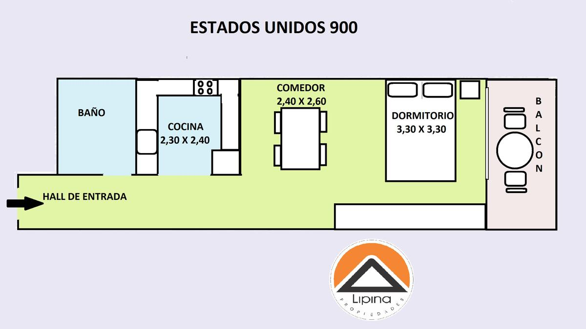 Foto Departamento en Alquiler temporario en  San Telmo ,  Capital Federal  Estados Unidos al 900