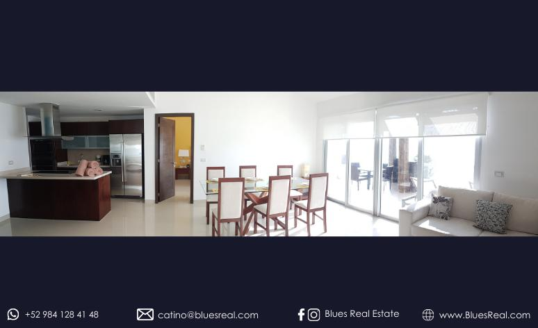 Picture House in Rent in  Playa del Carmen,  Solidaridad  FULLY FURNISHED Apartment for RENT in Mareazul in front of the sea in Playa del Carmen | Blues Real | Code 952