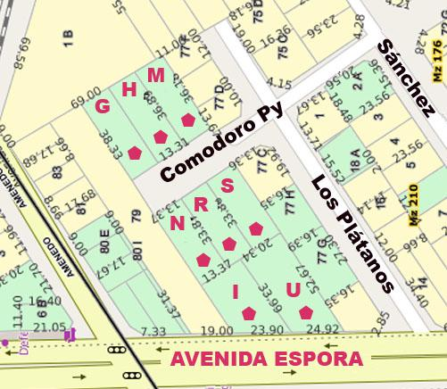 Foto Terreno en Venta en  Adrogue,  Almirante Brown  AVDA. ESPORA AL 300, entre Amenedo y Los Plátanos