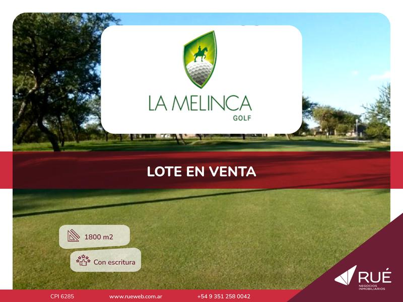 Foto Terreno en Venta en  Campos del Virrey,  Cordoba Capital  Lote de 1800 m2 en La Melinca. Con escritura. Posibilidad de financiación.