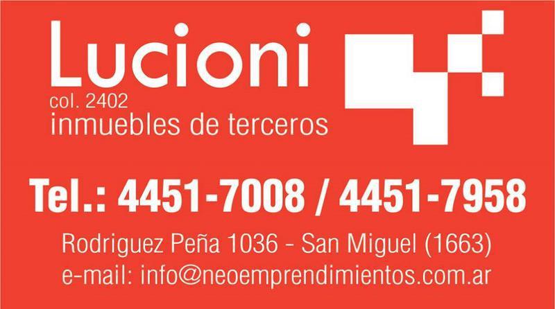 Foto Departamento en Venta en  Muñiz,  San Miguel  AVENIDA PERON AL 200 - AMPLIO MONO AMBIENTE DE CATEGORIA A ESTRENAR - EDIFICIO BOX