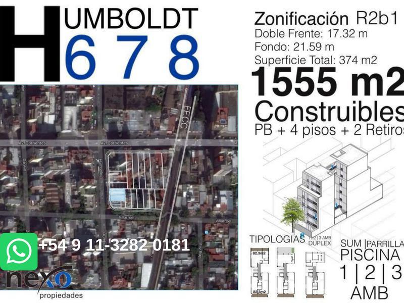 Foto Terreno en Venta en  Villa Crespo ,  Capital Federal  HUMBOLDT 600