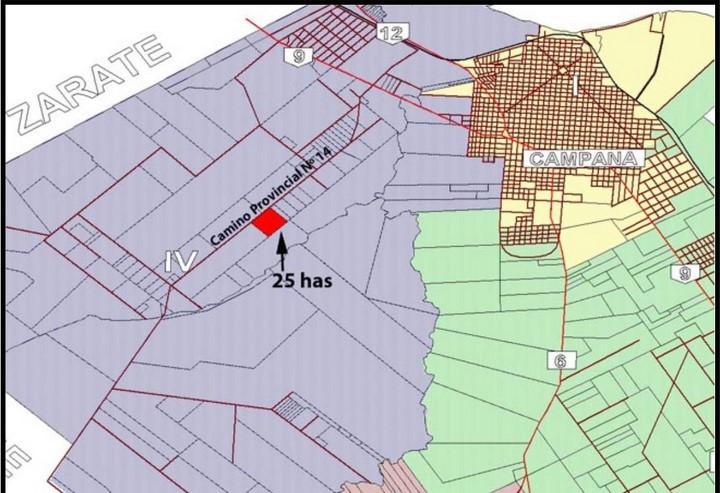 Camino Provincial 14 - 25 has -  altura Panamericana km 79