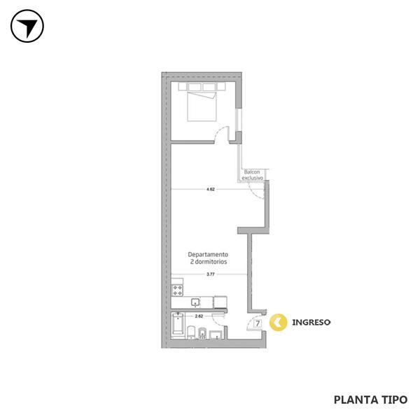 venta departamento 1 dormitorio Rosario, ENTRE RIOS Y URQUIZA. Cod CBU31070 AP2975734 Crestale Propiedades