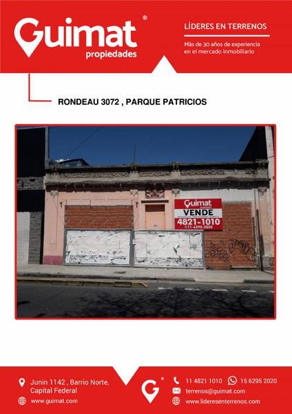 Foto Terreno en Venta en  Parque Patricios ,  Capital Federal  RONDEAU  al 3000