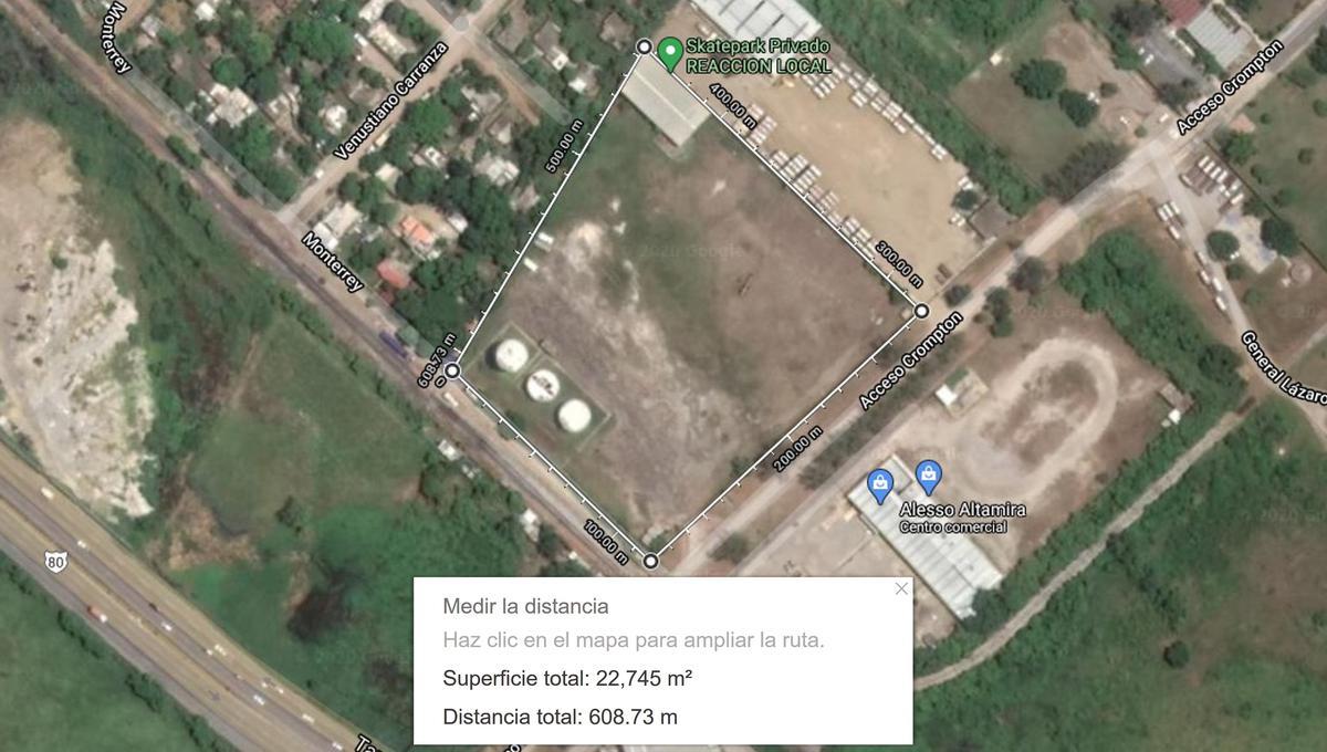 Foto Terreno en Venta en  Zona industrial Altamira,  Altamira  Terreno Industrial en venta en Zona Industrial, Altamira