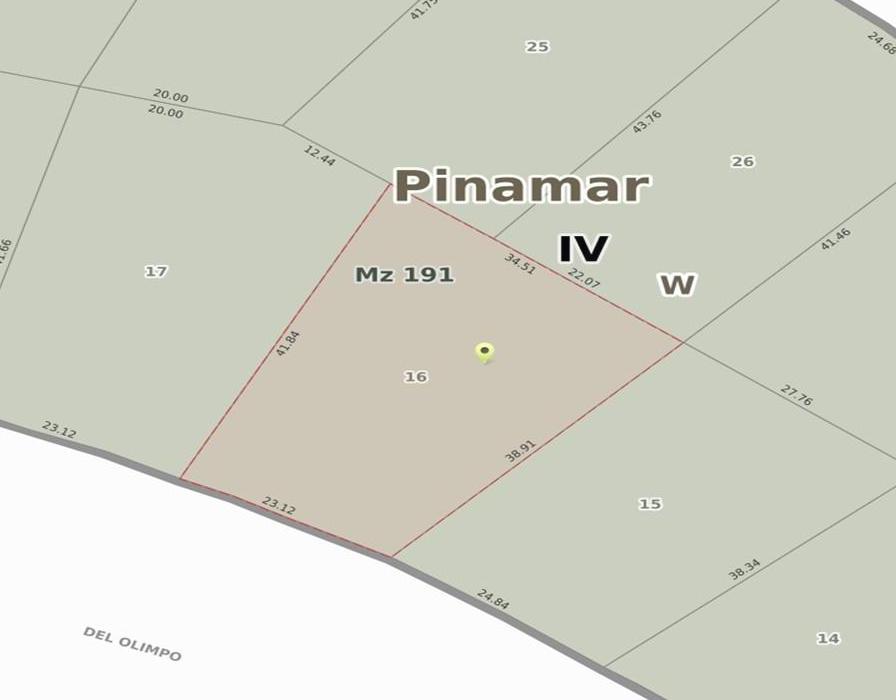 Foto Terreno en Venta en  Pinamar Norte,  Pinamar  Av. Olimpo E/ Penelope y Av. Shaw
