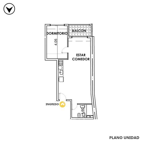venta departamento 1 dormitorio Rosario, MENDOZA 1800. Cod CBU35008 AP3541920 Crestale Propiedades