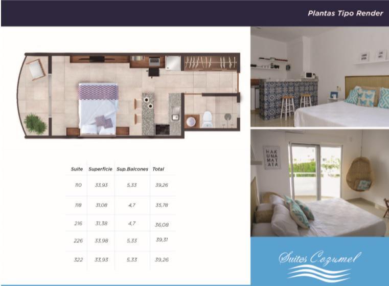 Foto Casa en condominio en Venta en  Cozumel ,  Quintana Roo  Suites Cozumel Studio 118