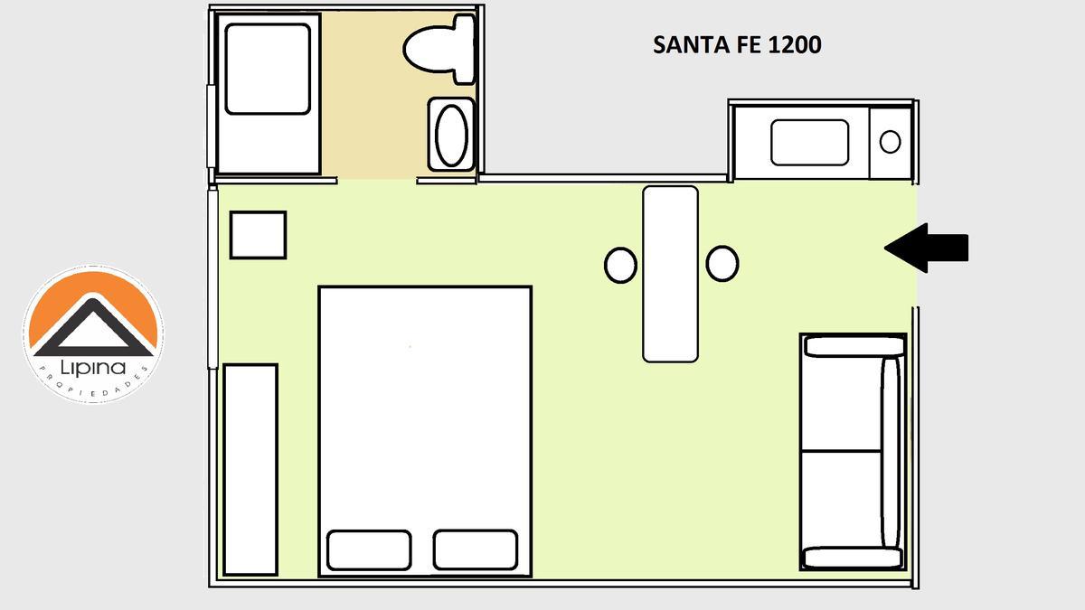 Foto Departamento en Alquiler temporario en  Barrio Norte ,  Capital Federal  Av. Santa Fe al 1200