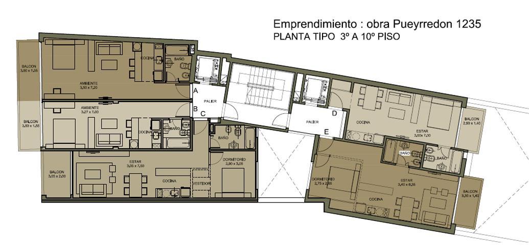 Av. Pueyrredon y Marcelo T. de Alvear 5° D