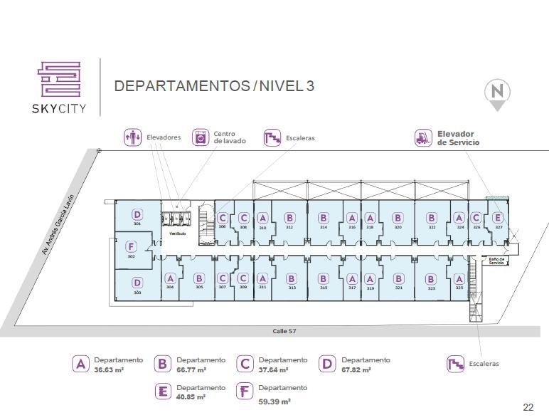 Foto Departamento en Venta en  San Ramon Norte,  Mérida  DEPARTAMENTOS SKYCITY