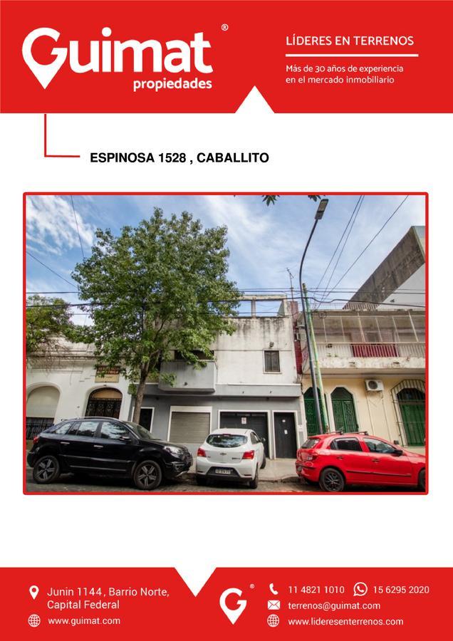 Foto Terreno en Venta en  Caballito ,  Capital Federal  ESPINOSA al 1500