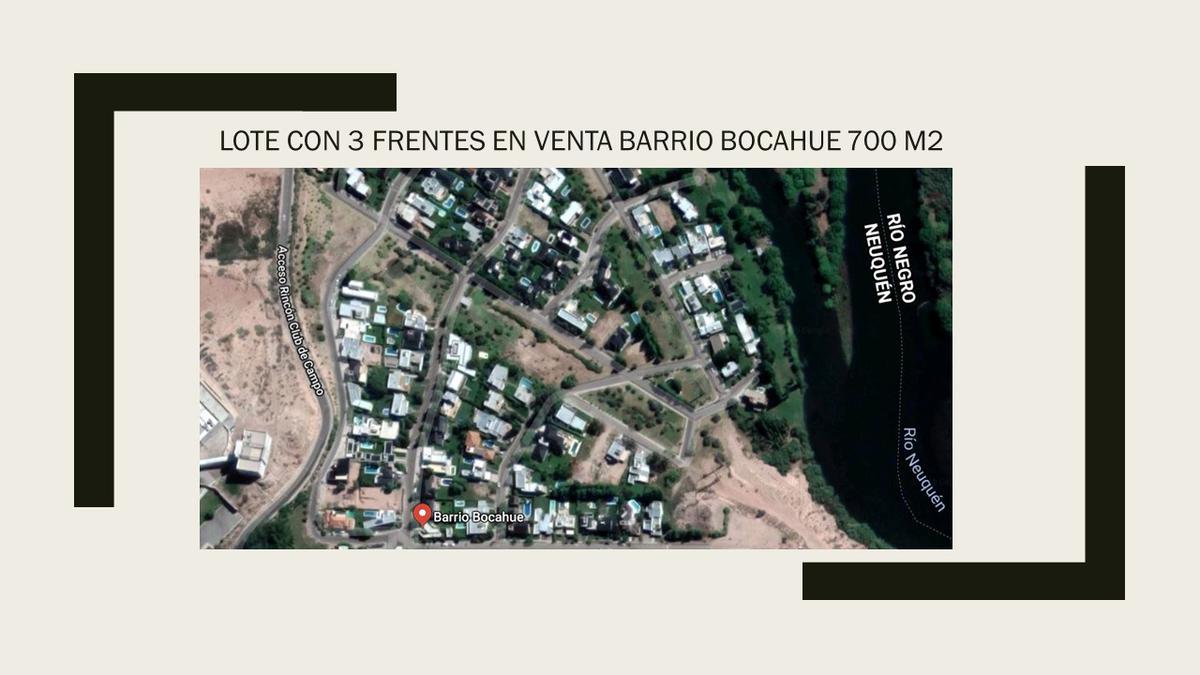Foto Terreno en Venta en  Capital ,  Neuquen  Barrio Bocahue