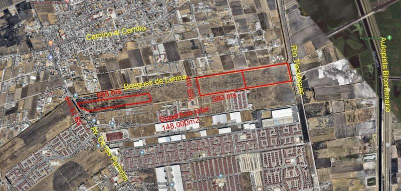 Foto Terreno en Venta en  El Cerrillo Vista Hermosa,  Toluca  Venta de 3 Terrenos en Av. Las partidas Toluca, 3.2 hect., 5.9 hect., y 55.8 hect. Uso suelo Ind y Hab.