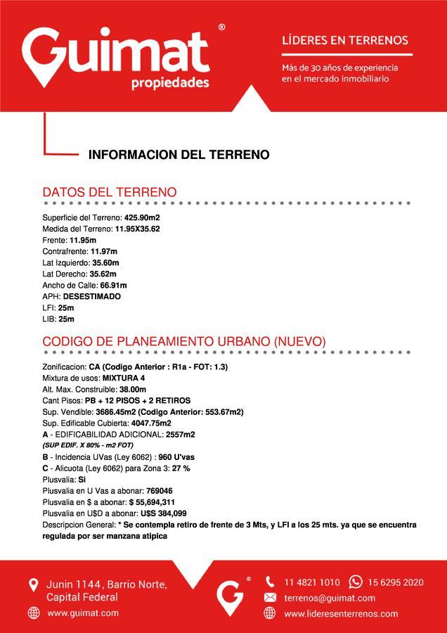 Foto Terreno en Venta en  Saavedra ,  Capital Federal  CABILDO al 4900